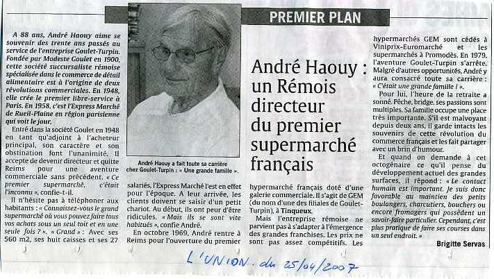 ANDRES HAOUY LUNION 2007